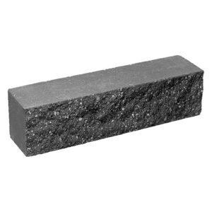 Брусок-кирпич облицовочный полнотелый черного цвета, ложковый, колотый, размер 250x60x65 мм
