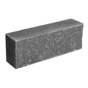 Брусок-кирпич облицовочный полнотелый черного цвета, ложковый, колотый, размер 250x60x88 мм