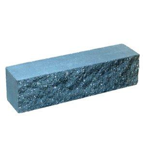 Брусок-кирпич облицовочный полнотелый голубого цвета, ложковый, колотый, размер 250x60x65 мм