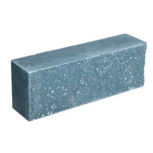 Брусок-кирпич облицовочный полнотелый голубого цвета, ложковый, колотый, размер 250x60x88 мм