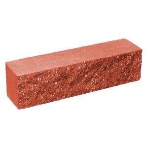 Брусок-кирпич облицовочный полнотелый, красного цвета, ложковый, колотый, размер 250x60x65 мм