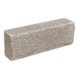 Брусок-кирпич облицовочный полнотелый, серого цвета, ложковый, скол скала, размер 250x50x88 мм
