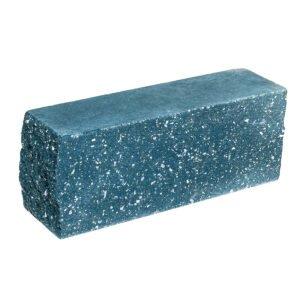 Брусок-кирпич облицовочный полнотелый голубого цвета, угловой, колотый, размер 225x60x88 мм
