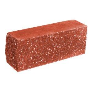 Брусок-кирпич облицовочный полнотелый, красного цвета, угловой, колотый, размер 225x60x88 мм
