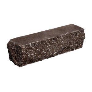 Брусок-кирпич облицовочный полнотелый шоколадного цвета, угловой, скол скала, размер 225x50x65 мм