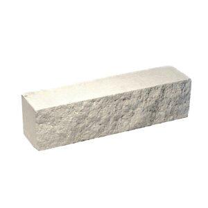 Брусок-кирпич облицовочный полнотелый белого цвета, ложковый, колотый, размер 250x60x65 мм