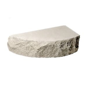 Кирпич полукруг белый 250х90х65 скала