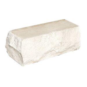 Кирпич угловой белый 225х90х88 мм. Скала