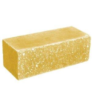 Кирпич ложковый желтый 250х100х88 мм. Колотый
