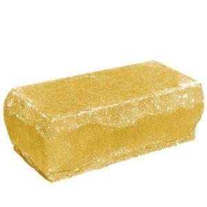 Кирпич угловой желтый 245х115х88 мм. Скол луч