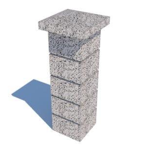 Колпак столба бетонный 400х400×120 мм