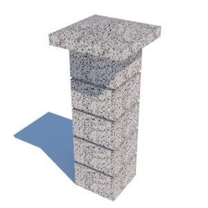 Колпак столба бетонный 450х450×120 мм
