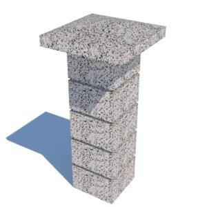 Колпак столба бетонный 390х390×30 мм