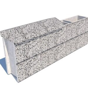 Колпак забора бетонный 600х250×90 мм