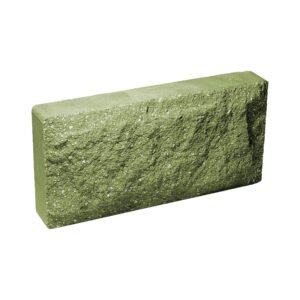 Плитка облицовочная для цоколя, зеленого цвета, колотая, 250x120x44 мм