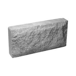 Плитка облицовочная для цоколя, серого цвета, колотая, 250x120x44 мм