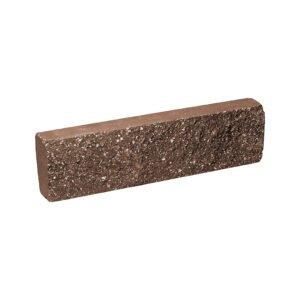 Плитка облицовочная коричневого цвета 250x65x30 мм