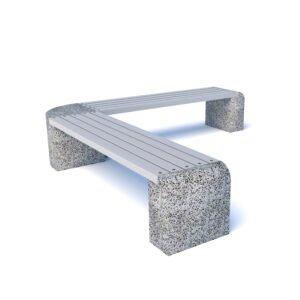 Скамейка бетонная Евро 1 Дабл