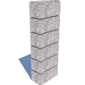 Столбовой бетонный блок 40х20×20 см
