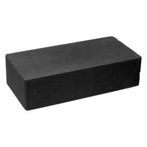 Кирпич облицовочный полнотелый гладкий черного цвета, размер 250х120х65 мм