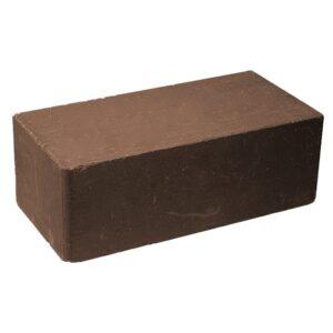 Кирпич облицовочный полнотелый полуторный гладкии,̆ коричневого цвета, размер 250х120х88 мм