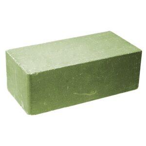 Кирпич облицовочный полнотелый полуторный гладкий, зеленого цвета, размер 250х120х88 мм