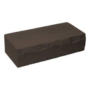 Кирпич облицовочный полнотелый ложковыи, шоколадного цвета, скол луч, размер 250х115х65 мм