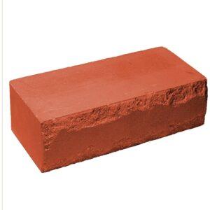 Кирпич облицовочный полнотелый, ложковый, скол луч, красного цвета, размер 250х115х88 мм