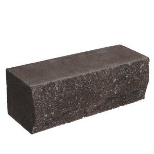 Кирпич облицовочный полнотелый ложковый, шоколадного цвета, скол скала, размер 250х90х88 мм