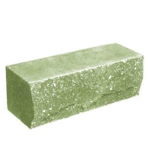 Кирпич ложковый зеленый 250х90х88 мм. Скала