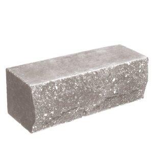 Кирпич облицовочный полнотелый, ложковый, скол скала, серого цвета, размер 250х90х88 мм