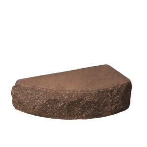 Кирпич полукруг коричневый — 250х90х65 скала