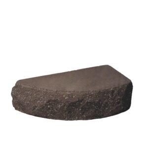 Кирпич облицовочный полнотелый полукруг, шоколадного цвета, скол скала, размер 250х90х65 мм