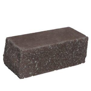 Кирпич облицовочный полнотелый угловои,̆ шоколадного цвета, колотый, размер 225х100х88 мм