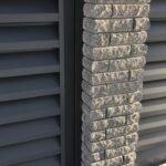 Кирпич облицовочный полнотелый, ложковый, колотый, серого цвета, размер 250х100х88 мм