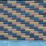 Кирпич облицовочный полнотелый, ложковый, скол скала, персикового цвета, размер 250х90х65 мм