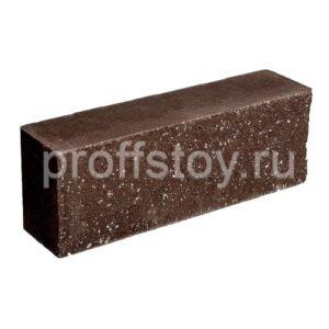 Брусок-кирпич облицовочный полнотелый шоколадного цвета, ложковый, колотый, размер 250x60x88 мм