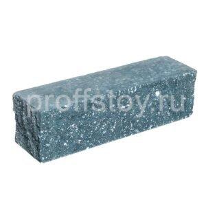 Брусок-кирпич облицовочный полнотелый голубого цвета, угловой, колотый, размер 225x60x65 мм