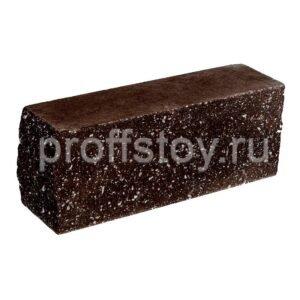 Брусок-кирпич облицовочный полнотелый шоколадного цвета, угловой, колотый, размер 225x60x88 мм