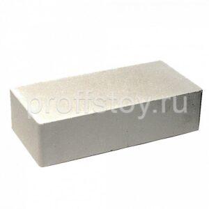 Кирпич облицовочный полнотелый одинарный, гладкий, белого цвета, размер 250х120х65 мм