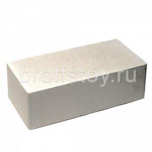 Кирпич облицовочный полнотелый, полуторный, гладкий, белого цвета, размер 250х120х88 мм