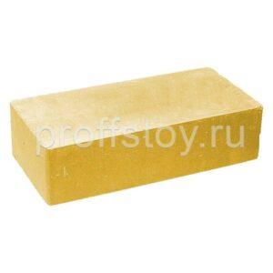 Кирпич облицовочный полнотелый одинарный гладкий, желтого цвета, размер 250х120х65 мм