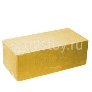 Кирпич облицовочный полнотелый полуторный гладкий, желтого цвета, размер 250х120х88 мм