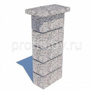Колпак столба бетонный 500x300x90 мм