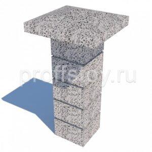 Колпак столба бетонный 550х580×150 мм