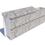 Колпак забора бетонный 700х250×90 мм