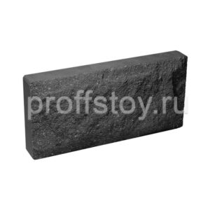 Плитка облицовочная для цоколя, черного цвета, скол скала, 250х120х30 мм