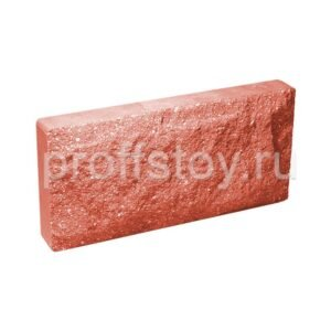 Плитка облицовочная для цоколя, красного цвета, скала, 250х120х30 мм