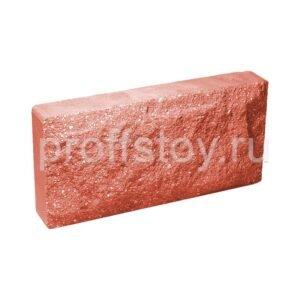 Плитка облицовочная для цоколя, красного цвета, колотая, 250x120x44 мм