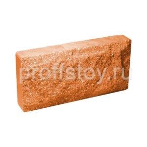 Плитка облицовочная для цоколя, персикового цвета, колотая 250x120x44 мм